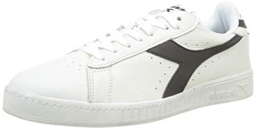 Diadora Game L Low Waxed, Sneaker Unisex Adulto, (Bianco/Nero C0351), 44 EU