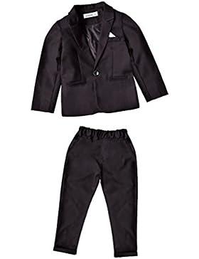Chicos Conjunto De Ropa Clásico Traje Niños 2 Piezas Chalecos + Pantalones Negro