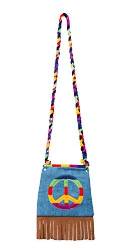 ,Karneval Klamotten' Kostüm Handtasche Peace Zubehör Karneval Flower (Fancy Dress Handtaschen Kostüme)
