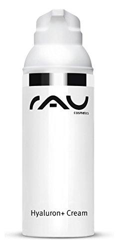 RAU Hyaluron Plus Cream 50 ml - Crème hyaluronique avec filtre UV, protège la peau du vieillissement prématuré. Crème visage hydratante à base d'huile d'avocat, de beurre de karité et d'acide hyaluronique. Ce soin visage pénètre en profondeur et regénère votre peau. Effet anti-âge!