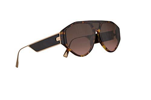 fd6f0ca661 Dior Christian DiorClan1 Gafas De Sol Havana Oscuro Con Lentes Verde Oscuro  51mm 08686 Clan1