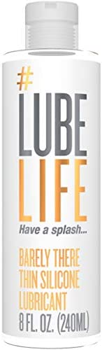 #Lubelife Thin Silicone Based Long Lasting Lubricant, 8 Oz Intimate Lube for Sensitive Skin - for Men, Women a