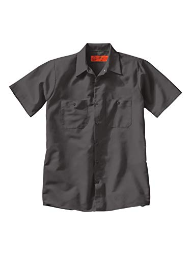 Red Kap Men's Industrial Work Shirt, Regular Fit, Short Sleeve - Poly-baumwolle-utility Shirt