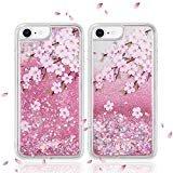 Luxmo iPhone 876S 6Fall Wasserfall Fusion Liquid Sparkling Quicksand Schutzhülle für iPhone 7(Pink), 5.5 Inches, Sakura