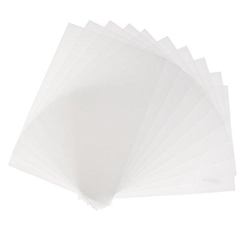 Sharplace 20 Stücke Löschen Schrumpffolien-Blätter Schrumpfbares Papier Für Handwerks-feines Polnisches