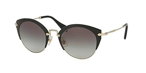 Miu Miu 53RS 1AB0A7 Black / Pale Gold 53RS Cats Eyes Sunglasses Lens Category 2