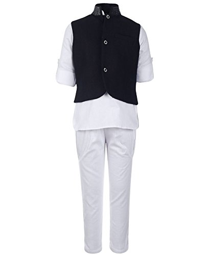 NammaBaby Cotton Full Sleeves Kurta Pajama with Color Jacket for your Prince...