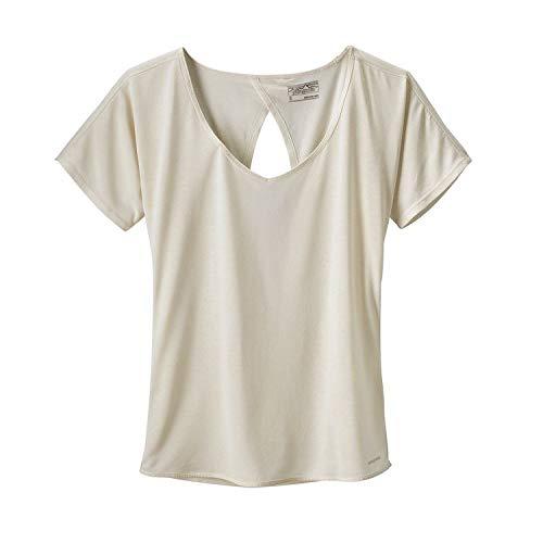 Patagonia Shirt White (Patagonia S/S Mindflow Shirt, Damen XL weiß (birch white))