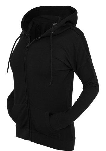 Urban Classics Femme Long Zippé à Capuche tb603 Noir - Noir