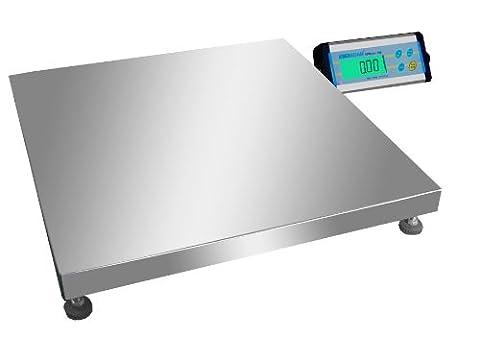 Grande balance plate-forme inox pèse-colis ou balance industrielle de 50