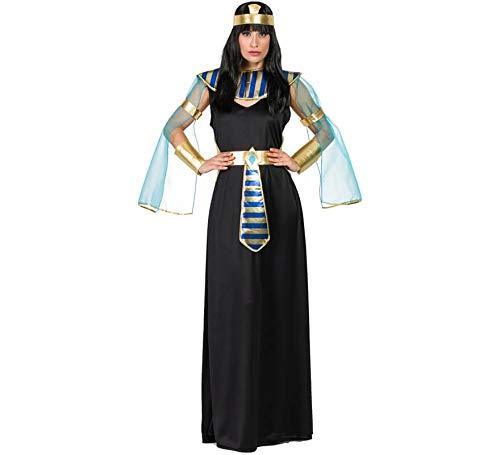 Disfraz de Cleopatra Negra para mujer. Incluye vestido, cinta de la cabeza, cuello, cinturón, brazaletes y muñequeras. No incluye peluca ni calzado. ¡Haz tu compra de forma segura y fiable, compra en DisfraZZes!