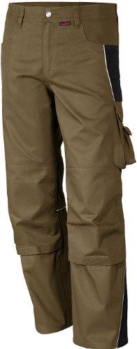 Preisvergleich Produktbild Qualitex PRO Bund-Hose Arbeits-Hose MG 245 - khaki/schwarz - Größe: 44