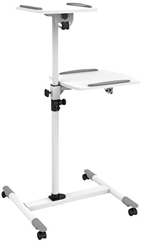 Techly ica-tb-tpm-6 multimedia trolley bianco carrello e supporto multimediale