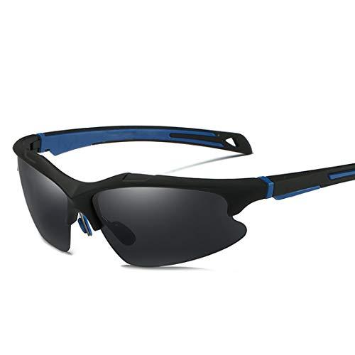 LINDANIG Langlebige Halb-Randlose Herren Sport Sonnenbrille Polarisierte UV400 Schutz Fahren Radfahren Laufen Angeln Golf (Farbe : Blau)