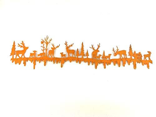 Florissima 3X rostige Girlande Waldmotiv 50cm Picker Sticker Blumenkasten Weihnachtsschmuck Weihnachsdeko Weihnachten Xmas Deko Basteln Stecker