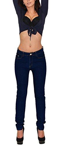 by-tex Damen Röhrenjeans Damen Jeans Damen Jeanshose bis Übergröße Übergrösse Gr. 52, 54, 56, (Gerades Size Jeans Plus Bein)