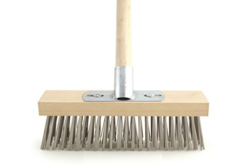 "Price comparison product image Charles Bentley Wire Broom with Bracket and Wooden Handle 12"" Galvanised"