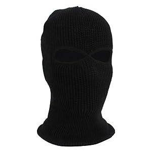tianshi Herren Gesichtsmaske Skimaske Wintermütze 3 Löcher Sturmhaube Mütze taktisch warm