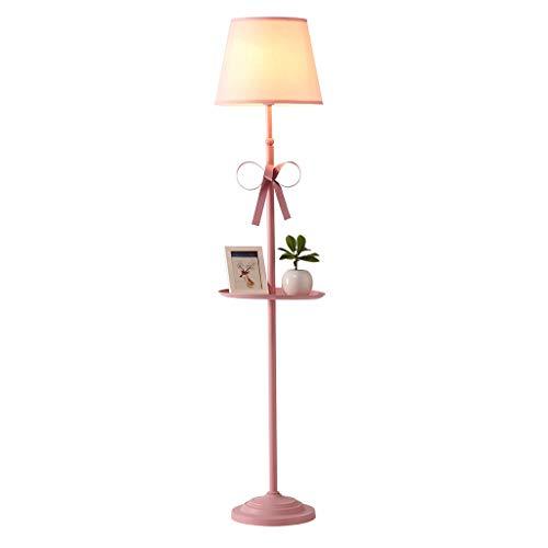 Lampadaire Lampadaire Vertical Créatif Lampe De Chambre D'enfants Salon Haute Lampe De Table Rose Lampadaire De Chambre Fille Lumière Tamisée (Color : Pink)
