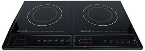 HA-INDUC-21N Plaque de cuisson électrique/induction/contact de protection Noir 10 cm