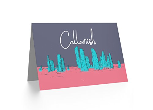 Wee Blue Coo LTD Callanish Standing Stones Lewis Hebrides Illustration Greetings Card (Stones Callanish)