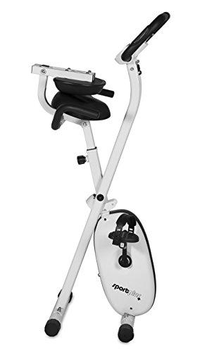 SportPlus Ergo X-Bike mit App-Steuerung, 24 motorgesteuerte Widerstandstufen, inkl. Bluetooth Brustgurt (nur für kurze Zeit!), TÜV/GS, klappbar, int. Tablethalterung, Benutzergewicht bis 100 kg - 4