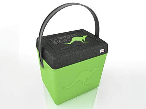 KÄNGABOX®Trip TP1310LE Lime. Hochwertige Thermobox mit Henkel und nützlich als Hocker. Hält warm, kalt und heiß. Ultraleicht, extrem stabil. Große Innenhöhe mit 31 cm. Inhalt 20 Liter. Material EPP.