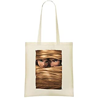 tangled movie psoter Custom Printed Grocery Tote Bag - 100% Soft Cotton - Eco-Friendly & Stylish Handbag For Everyday Use - Custom Shoulder Bags