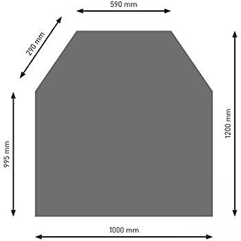 Bodenplatte B5 Diamant schwarz pulverbeschichtet 1100 x 1100 mm
