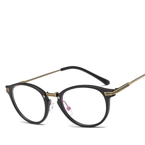 XCYQ Brillengestell Frauen Runder Rahmen Brillen Brillen Vintage Eyewear Spectacle Frame, B