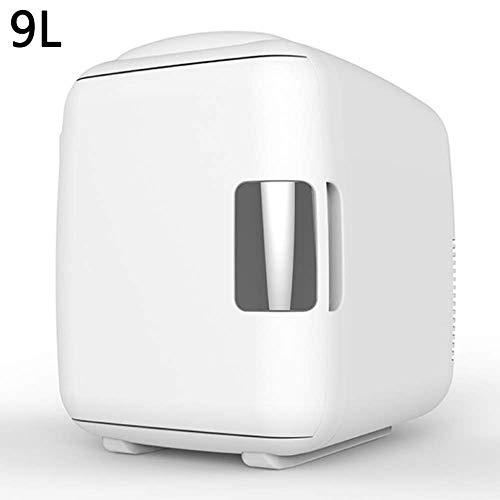 ZGHOME Elektrischer Mini-Kühlschrank Kühler Wärmer Thermoelektrisches Leises, Energieeffizientes Tragbares Gerät Mini Kühlschrank Wohnheimzimmer Office-9L,White (Kühlschränke Office)