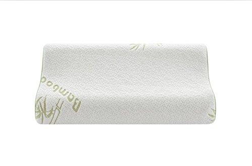 NOFFA Almohadas Cervical de Espuma de Memoria Alivio del Dolor Con la Cubierta Transpirable Lavable (60 x 38 cm)