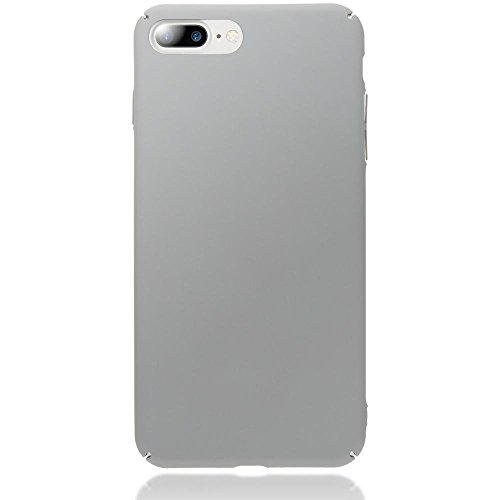 iPhone 8 Plus / 7 Plus Hülle Handyhülle von NICA, Dünnes Hard-Case Schutzhülle Matt, Ultra-Slim Cover Etui Handy-Tasche, Ultra-Slim Phone Backcover Skin Bumper für Apple iPhone-7+/8+ , Farbe:Schwarz Grau