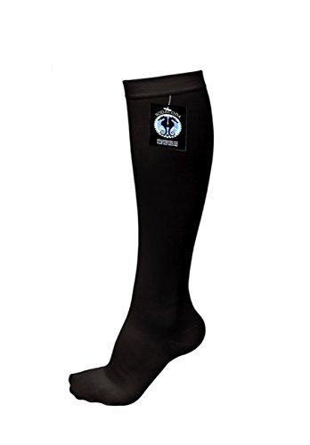 SODACODA Kompressions-Socken, Anti-Müdigkeit-Strümpfe - Knie Strumpf fördert Fuß Durchblutung - (Schwarz L/XL) (Kompression-socken)