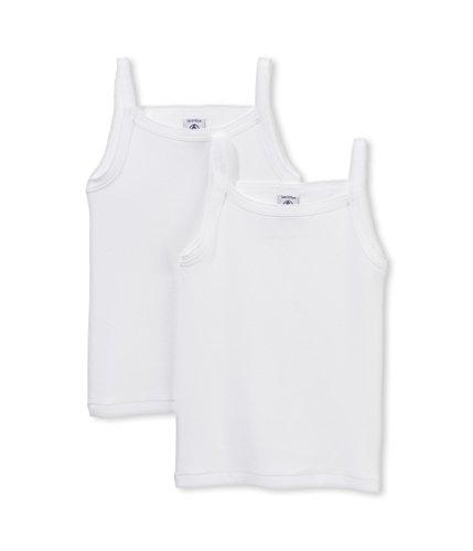 Petit Bateau Mädchen Unterhemd Lot 2p Chem Bret, 2er Pack, Weiß (Special Lot 0), 152 (Herstellergröße: 12A) (Petit Unterhemd Bateau)
