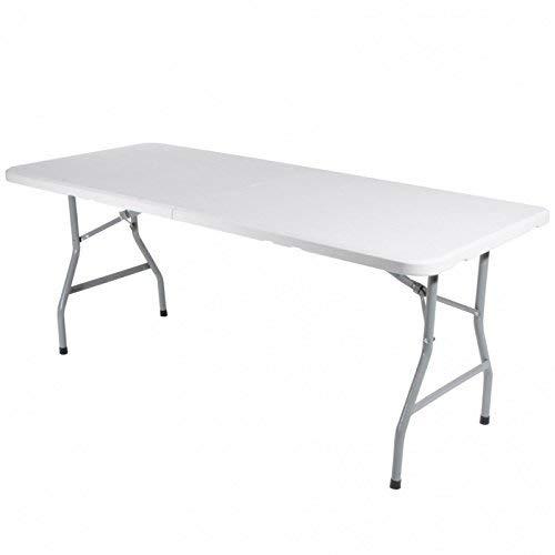 Verdelook tavolo pieghevole con struttura in acciaio verniciato e piano in plastica hdpe diametro 22 mm