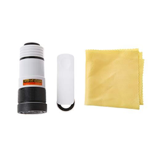 BIlinli HD 8 / 12X optischer Zoom-Kamera-Teleskopobjektiv mit Clip für Universal-Handy