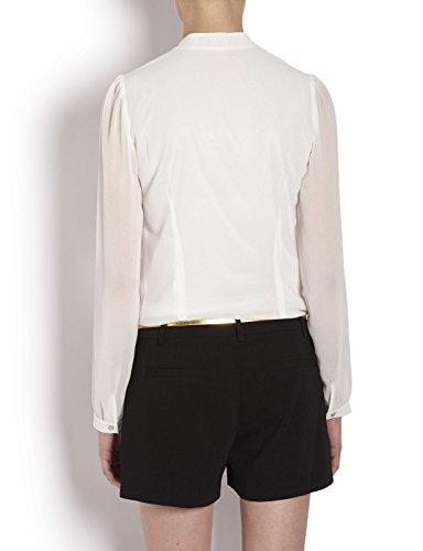 Morgan - Chemise - Manches longues - Femme Multicolore (Blanc/Noir)
