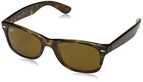Ray-Ban Unisex - Erwachsene Sonnenbrille New Wayfarer, Gr.52mm (Gestell: Braun, Havana; Gläser: kristall braun)