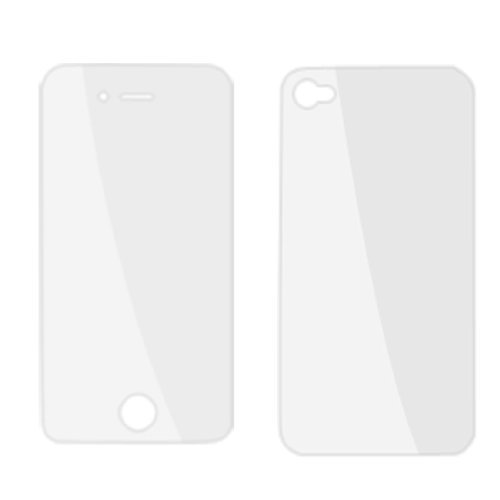 2 x Voor Achter Clear LCD Screen Protector Film voor iPhone 4 4G 4g Lcd Screen Protector