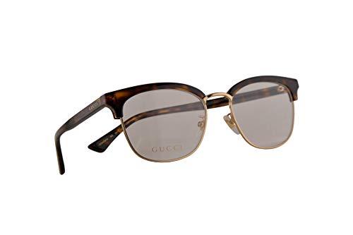 Gucci GG0409OK Brillen 53-18-145 Havana Braun Mit Demonstrationsgläsern 002 GG 0409OK