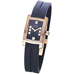Söl 10011/1 Women´s black gold watch