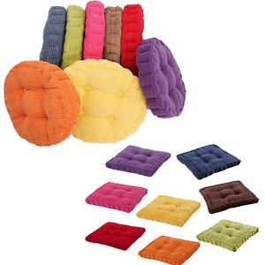 banggood cotton chair seat cushion pad tatami pad home car office dcor round and square - Office Chair Seat Cushion