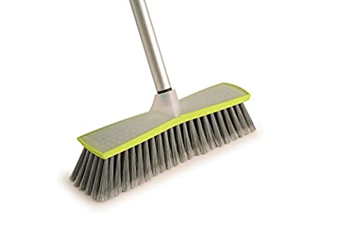 Olive Green Indoor Sweeping Broom Brush and Handle, Kitchen Floor Sweeper Cleaner by Colour Play