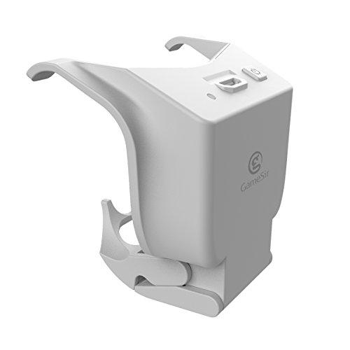 GameSir wiederaufladbarer Akku für die Offiziellen PS4 Controller, Externe Stromversorgung mit langem 3 m Micro-USB-Ladekabel für PS4 Wireless Controller, erweiterte Akku-Kits, weiß