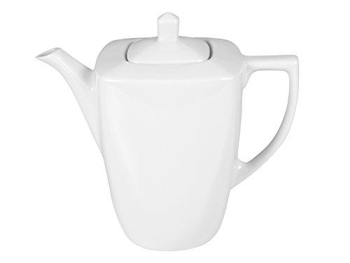 Home Square Théière/Cafetière, Porcelaine, Blanc