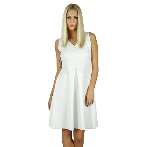 Bimba femmes Robe chasuble dessus du genou robe bohème Vêtements Parti Blanc