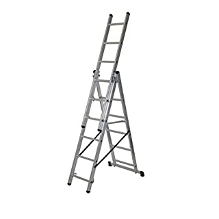 Abru 2101418 4 in 1 Combination Ladder Combi, Silver, One Size