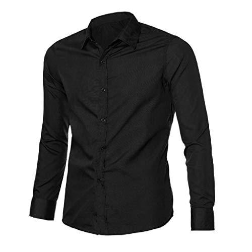 Camisas de Color Sólido Hombres, Dragon868 Camisa de Vestir Casual para Hombre Slim Fit...
