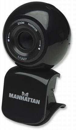 MANHATTAN Mega Cam Hi-Speed USB 2.0 7,5 Megapixel Auto-Tracking integriertes Mikrofon